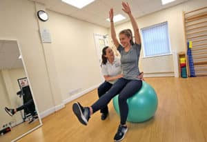 North Yorkshire Physiotherapy, Stokesley, Exercise Ball