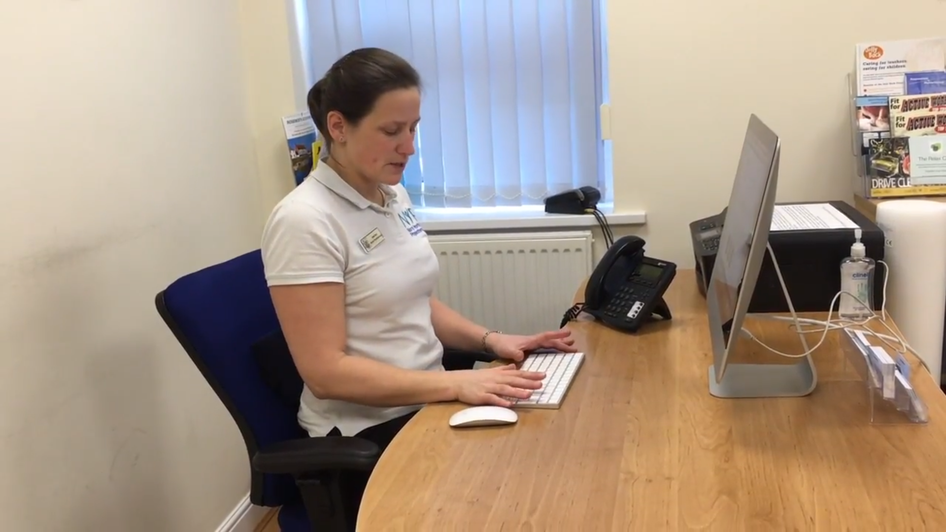 North Yorkshire Physiotherapy, Stokesley, Desk set up, posture